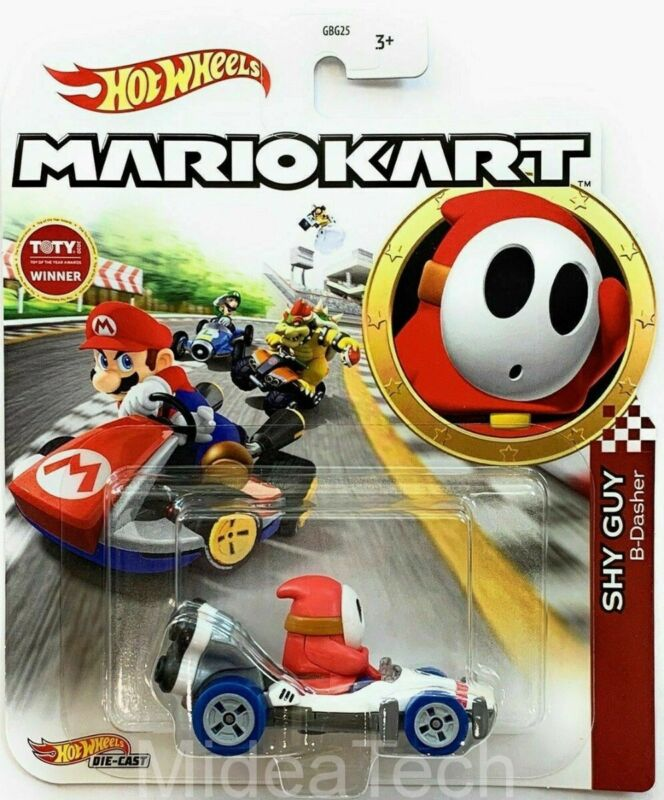 Hot Wheels 2020 Mariokart Shy Guy B-Dasher 1/64 Diecast Characters Car