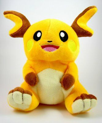 Pokemon Center Plushie Raichu Plush Doll Around Soft Figure Toy 7 inch Xmas Gift