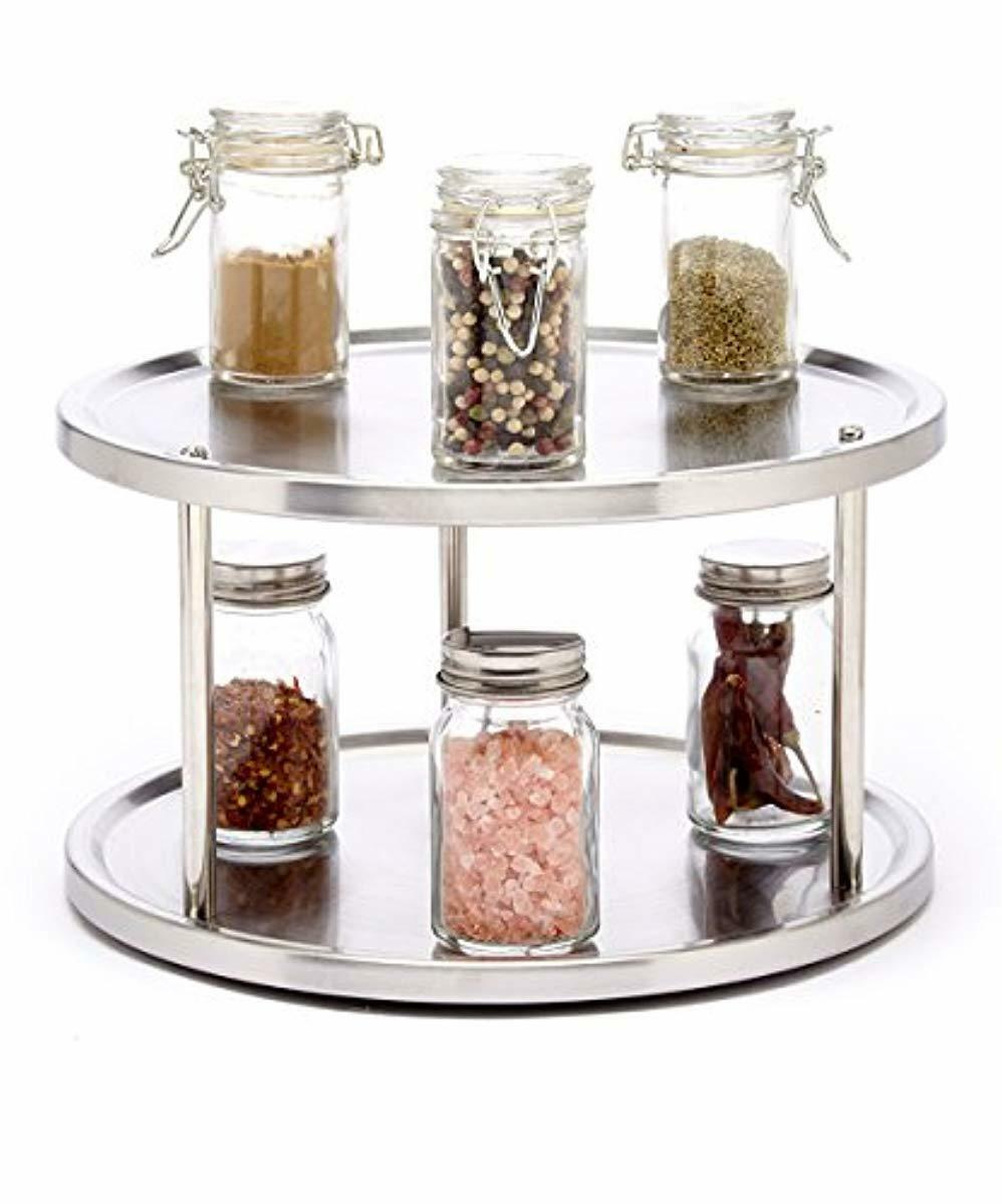 Small Spice Rack Countertop Organizer Kitchen Storage