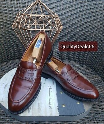 Church's Custom Brown Penny Loafer Made In England Leather   US 12D Excellent