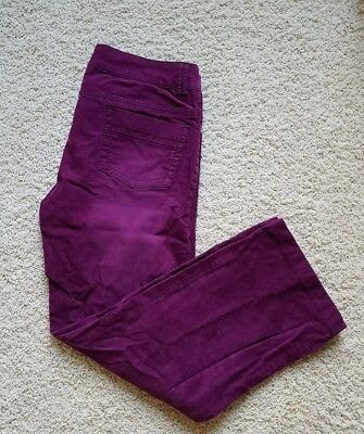 Women's prAna Hiking Outdoor Casual Pants SZ 12 Purple Stretch Organic Cotton