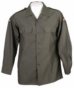 Original Bundeswehr Feldhemd OLIV Gr. 43/44  Bw Feldbluse Bw Einsatzhemd grün
