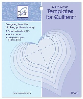 June Tailor Mix'n Match Appliqué Templates - Hearts