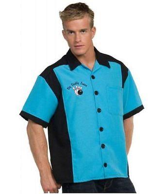 Bowling Shirt Men's 50's Style 2 Tone Short - Bowling Shirt Kostüme