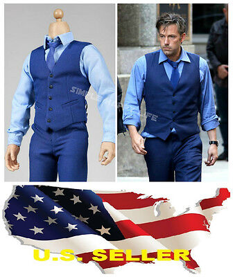 1/6 Ben Affleck Gentleman blue Fashion Suit Bruce Wayne for Hot toy Phicen ❶USA❶