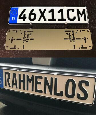 2x Kurz 46 x 11 cm Rahmenlos Kennzeichenhalter Nummernschildhalter Edelstahl (73 ()