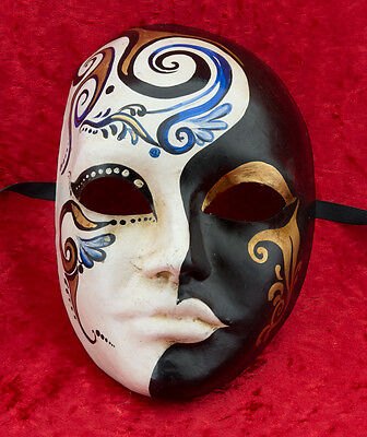 Mask from Venice Primavera Blue in Paper Mache for Collection - 949 - CB1