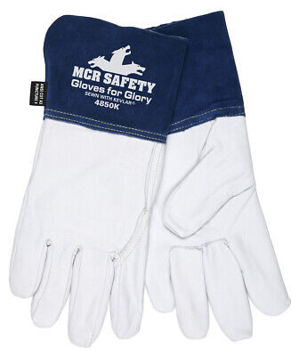 Mcr Safety Gloves For Glory Medium Leather With Kevlar Welding