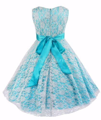 Princess pageant wedding party formal birthday kids prom lace dress