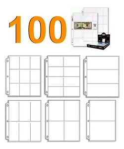 100 Sleeve Pocket Page Variety Pack for Coupon Binder Organizer or Baseball Card