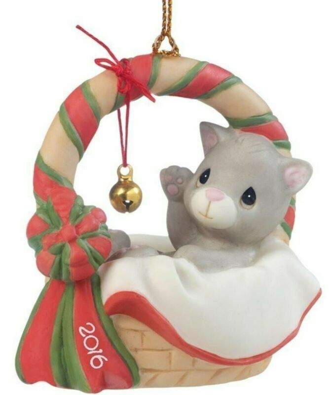 """PRECIOUS MOMENTS ORNAMENT """"2016 MEOWIE CAT CHRISTMAS"""" 161009 NEW * FREE SHIPPING"""