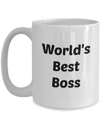 Workds Best Boss Mug - Gift for Office Boss - Funny Tea Hot