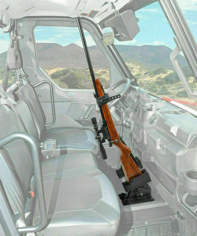 Floor Stand Gun Holder Bracket Mount For UTV Polaris Ranger 1000 Golf Cart Teryx