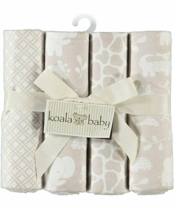 Koala Baby 4-Pack Receiving Blanket - Safari Theme