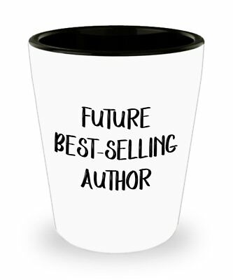 Future Best Selling Author Shot Glasses - Novelty Birthday Christmas... ()