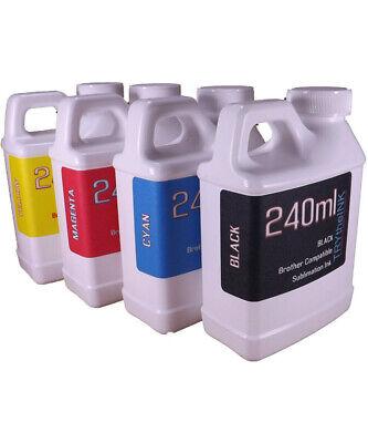 Dye Sublimation Ink 4- 240ml Bottles For Brother Inkjet Printers