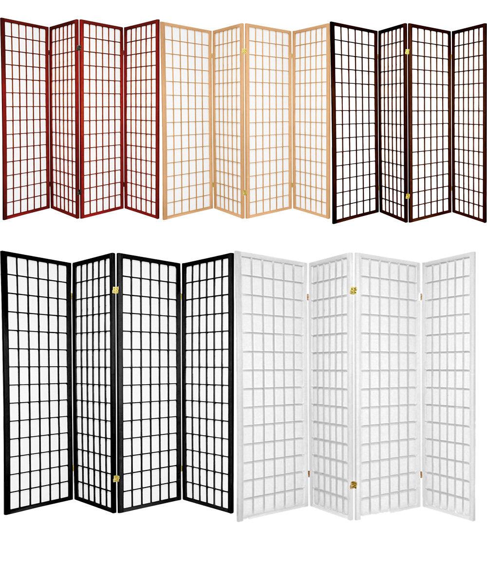 3 4 5 6 8 10 Panel Room Divider Screen Black White Cherry Na