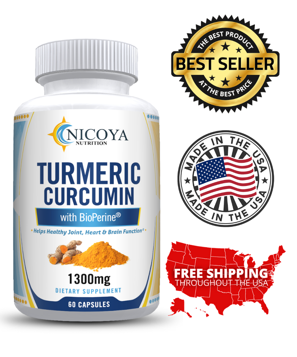 Turmeric Curcumin with Bioperine 1300mg - Anti-inflammatory