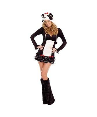 Panda Halloween Costume Women (New Womens Pandalicious Panda Adult Halloween Cosplay Costume Size Small)