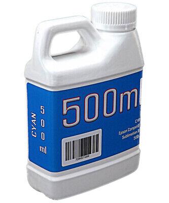 Cyan Dye Sublimation Ink 500ml Bottle Epson Stylus Pro Printers Non-oem
