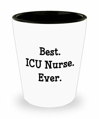 ICU Nurse Shot Glasses – Best ICU Nurse Ever - Novelty Birthday Christmas... ()