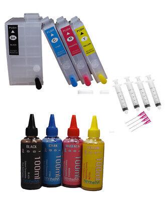 Dye Sublimation Ink 4- 240ml Refillable Ink Cartridges Epson Wf-7610 Wf-7620