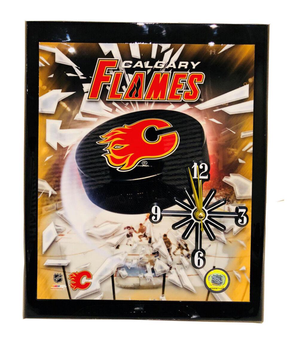 NHL Calgary Flames Hand Crafted Quartz Wall Clock, Battery O
