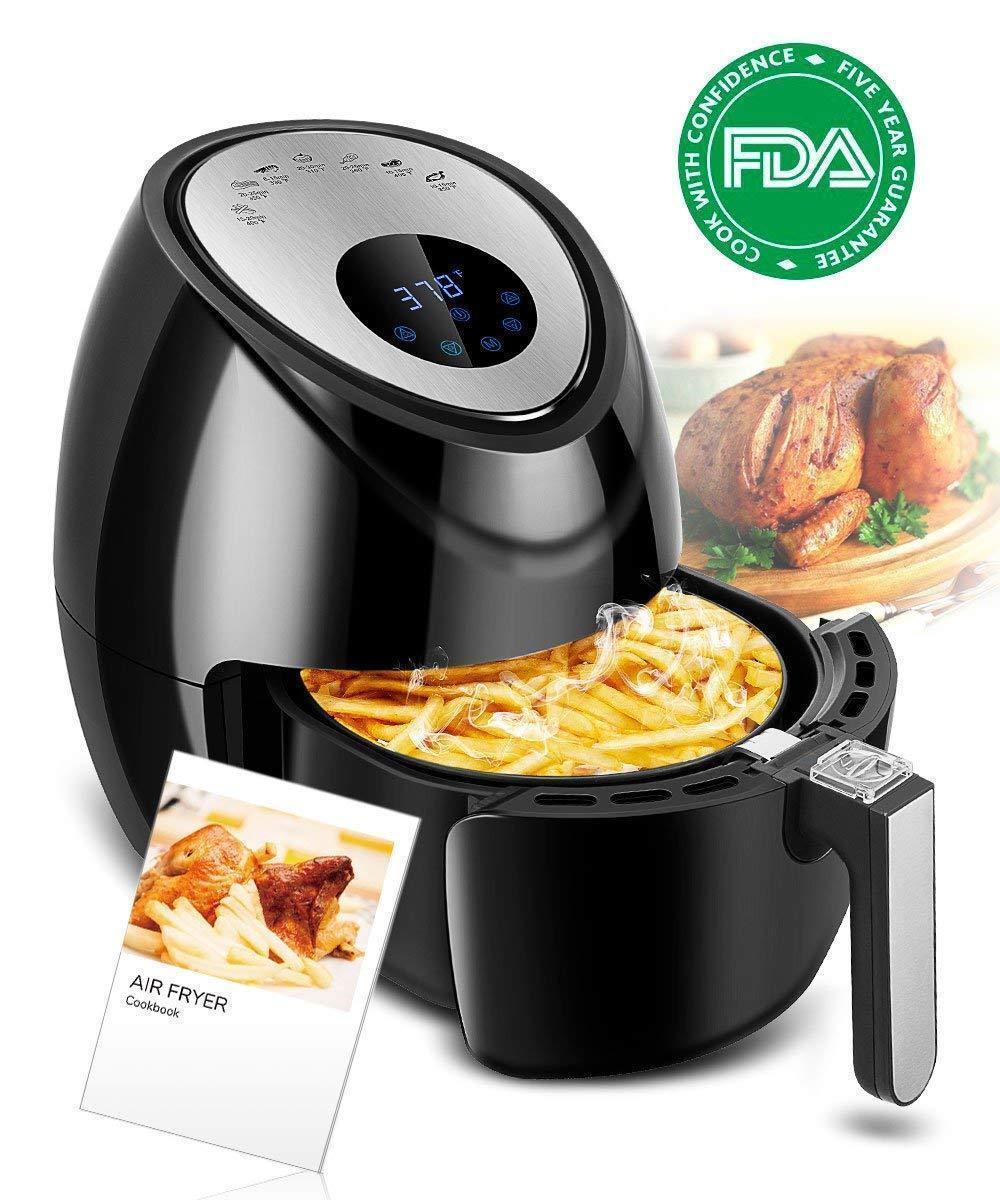 Digital Power Air Fryer Oven Pan Replace Air Frier Cookbook
