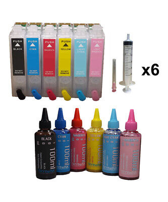 Dye Sublimation Ink Refill Cartridges T078 For Epson Rx580 Rx595 Rx680 Non-oem