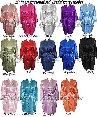 PLAIN Cheap Bridal Wedding Bride Bridesmaid Robes Bride Gown Satin Robes - Inexpensive Satin Robes