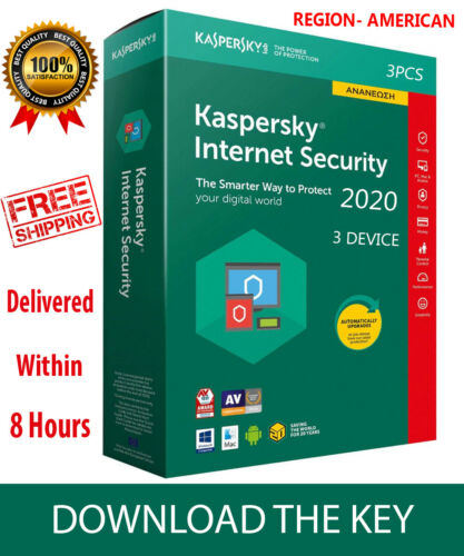 Kaspersky INTERNET Security 2020 3 Device/ For AMERICA /1 Year / PC-Mac-Android
