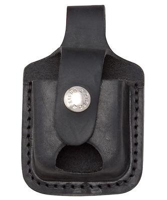 "Zippo LPTBK,  Lighter ""Leather Pouch"" w/Thumb Notch & Belt L"