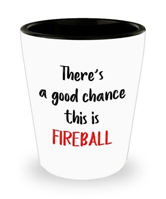 Fireball Whiskey Shot Glasses - There's a good chance this is Fireball (Good Whiskey Shots)