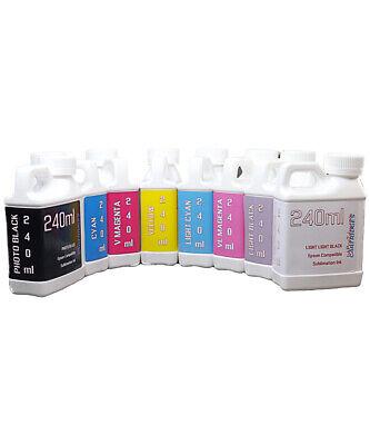 Dye Sublimation Ink 8-240ml Bottles For Epson 7880 9880 Printers Non - Oem Ink