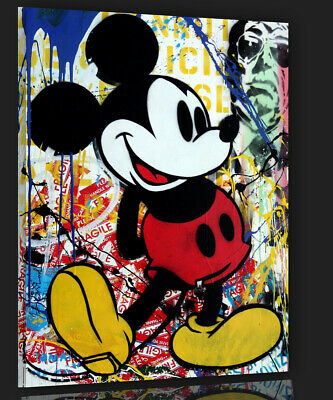 Mickey Mouse Pop Comic Modern art Contemporary Mr. Brainwash Bild 70x90
