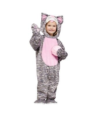 Fun World - Little Girls' Toddler Grey Striped Kitten Costume. - Kitten Costume Toddler