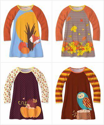 NWT Sunshine Swing Girls Fox Hedgehog Owl Fall Long Sleeve Raglan Dress (Girls Owl Dress)
