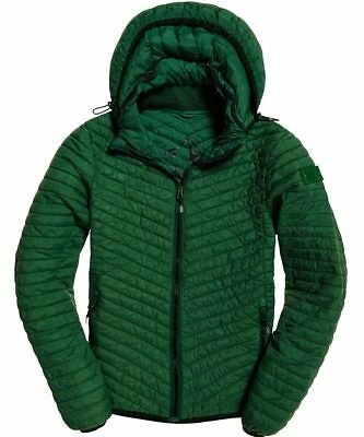 Superdry Men's Evergreen Vintage Fuji Zip Puffer Hooded Jacket