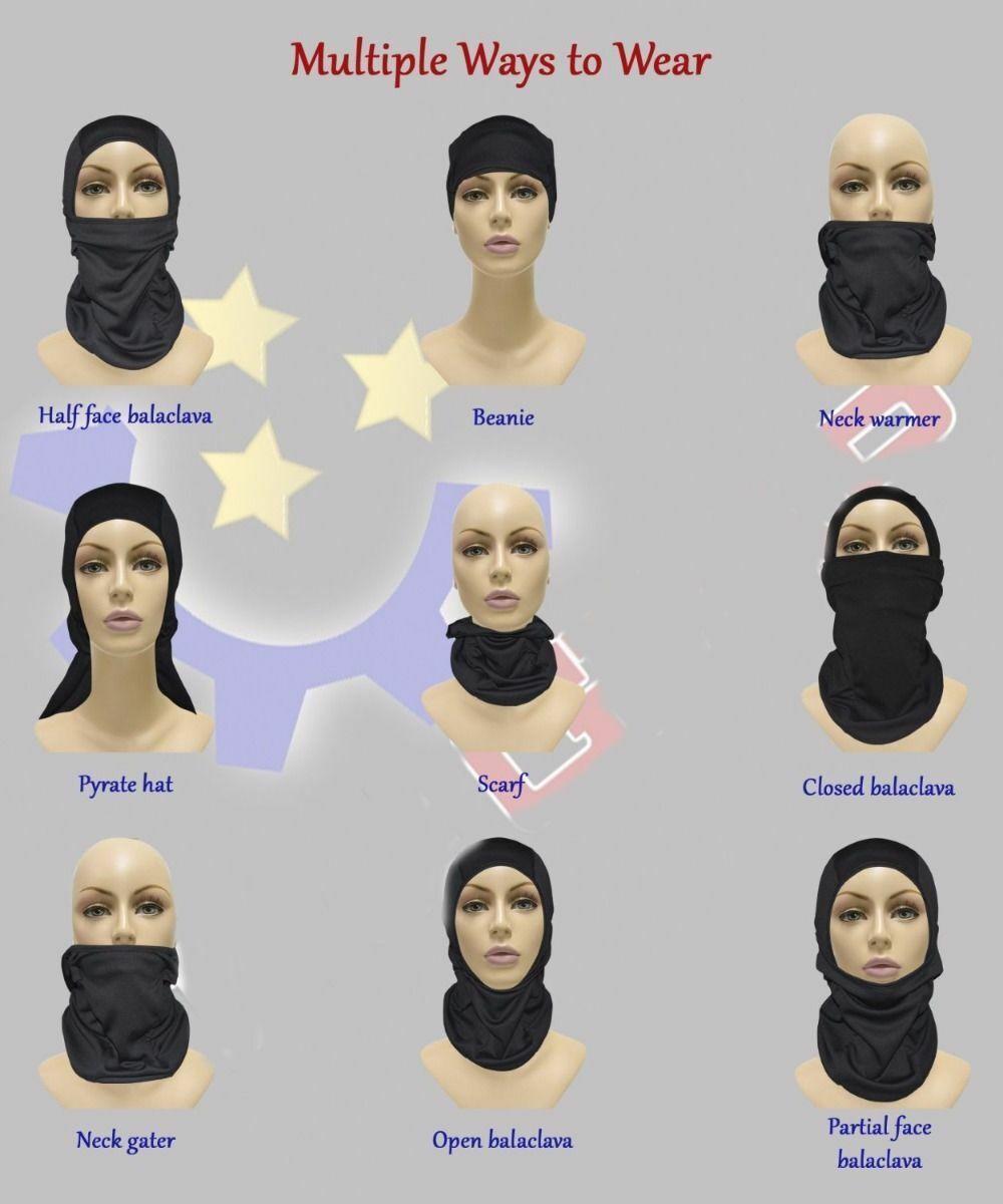 Outdoor Sports Sun UV Windproof Thin Summer Balaclava Neck Face Mask US Clothing