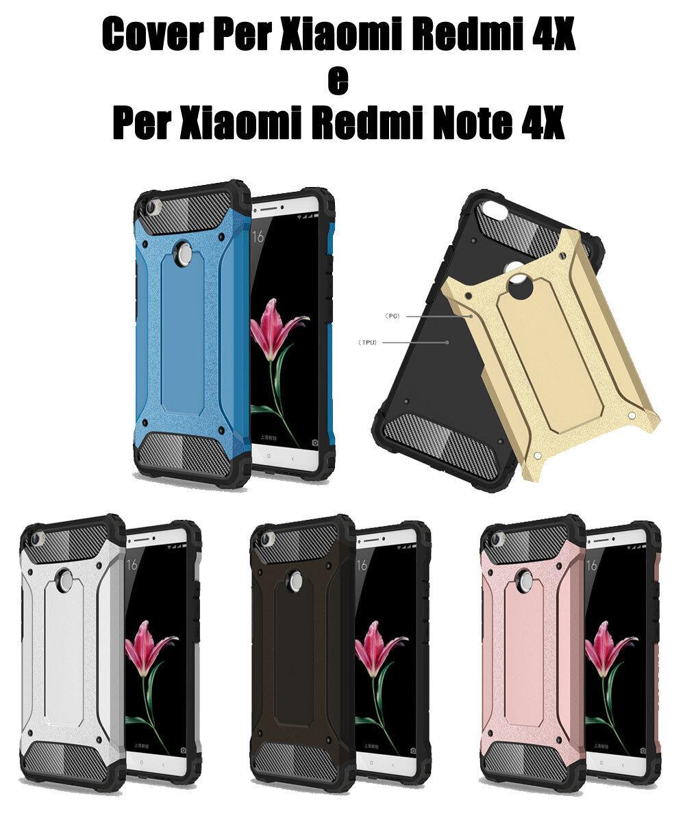 Cover custodia per Xiaomi Redmi Note4X e per Xiaomi Redmi 4X Silicone Gel Tpu+PC