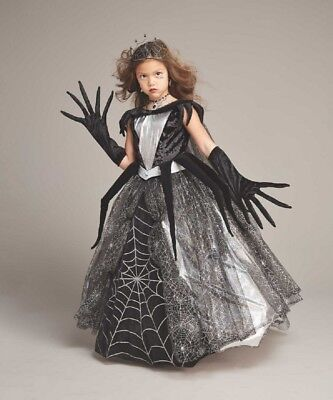 Girls Size 8 Spider Queen Chasing Fireflies Witch Costume Dress Crown Gloves ](Witches Glove)