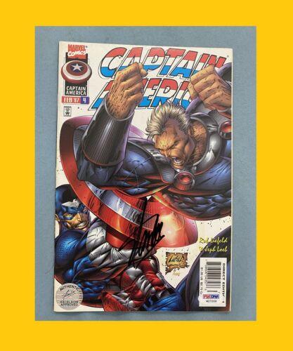 STAN LEE signed comic autograph (CAPTAIN AMERICA) COA Excelsior psa dna (W27209)