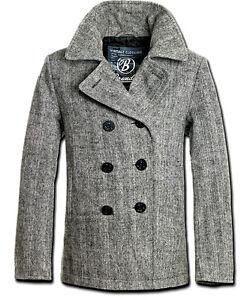 Brandit Mens Wool Jacket Wool Coat Short Coat Winter Coat Pea Coat