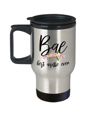 Bae best Auntie Ever Travel Mug - Insulated Tumbler - Great birthday