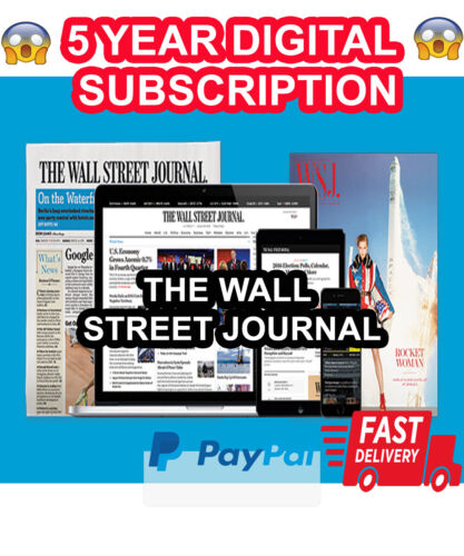 [BESTSELLER] Wall Street Journal WSJ 5Year Digital Subscription All Platforms