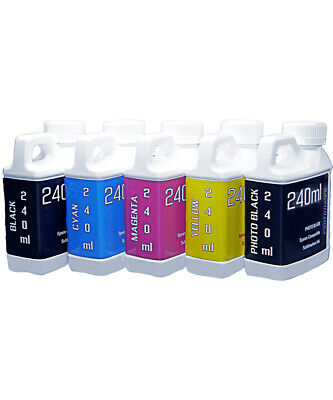 Dye Sublimation Ink 5-240ml Bottles For Epson Expression Xp-6000 Xp-6100 Non-oem