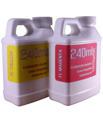 Fluorescent Dye Sublimation Ink 240ml For Epson Wf 7710 7720 7610 7620 Non-oem