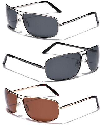 Large Polarized Men Square Aviator Sunglasses Fishing Driving Glasses 4 Big (Big Square Head)
