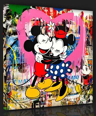 Pop Abstrakt art Mr. Brainwash Mickey and Minnie Bild 100x100  Comic Modern 6