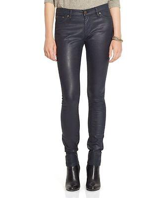 Lauren Ralph Lauren Coated Slim SKINNY Jeans Womens 16 Black 7010 ...
